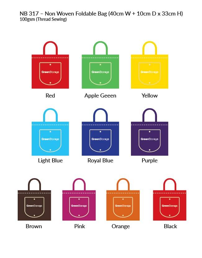 Non Woven Bag NB317 colour-chart
