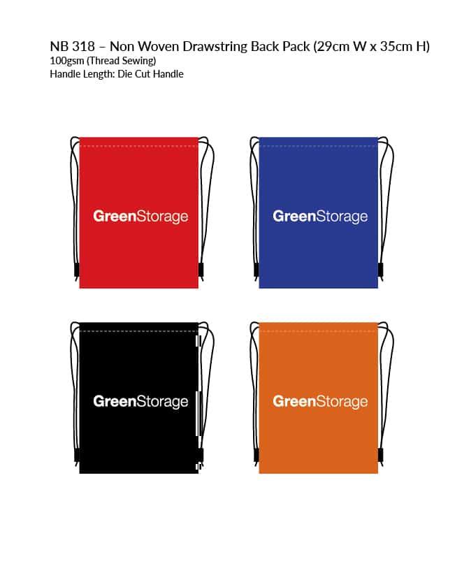 Non-Woven Bag NB318 Colour Chart