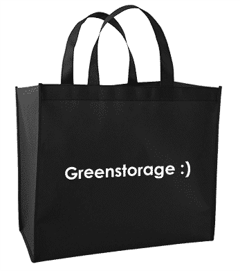 black eco bag