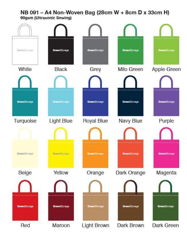 NB091 Colour Chart