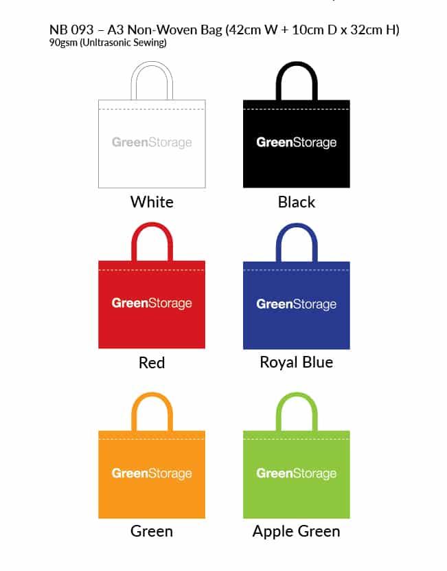 A3 Non Woven Bag Colour