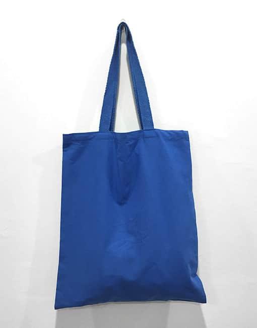 canvas bag blue