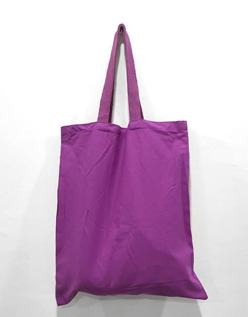 canvas bag purple