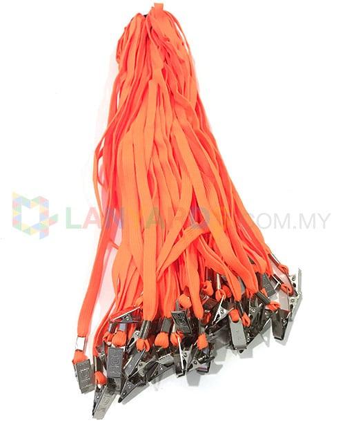 cheap orange lanyard