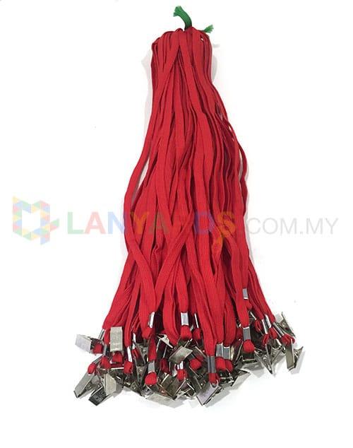 cheap red lanyard