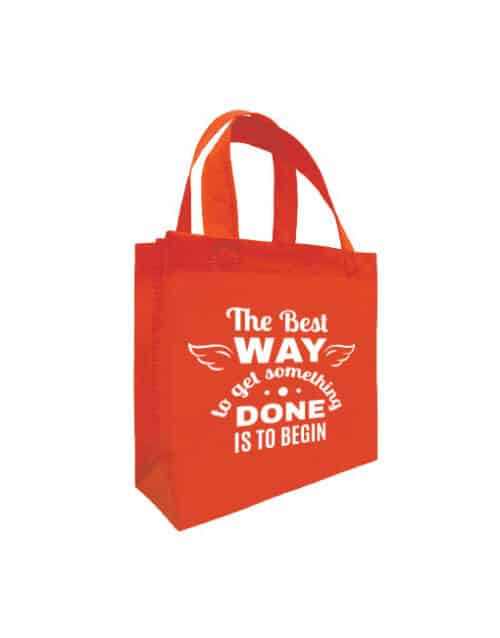 NB095 B5 Non Woven Bag - Red