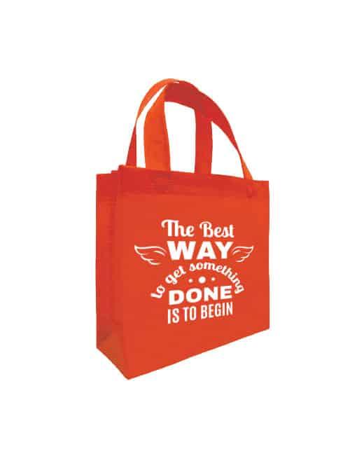 NB095 B5 Non Woven Bag - Red