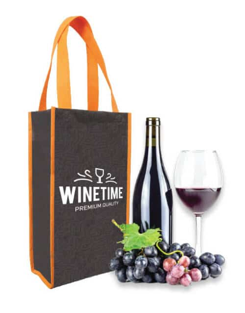 CN 25 - Double Bottle Wine Non Woven Bag